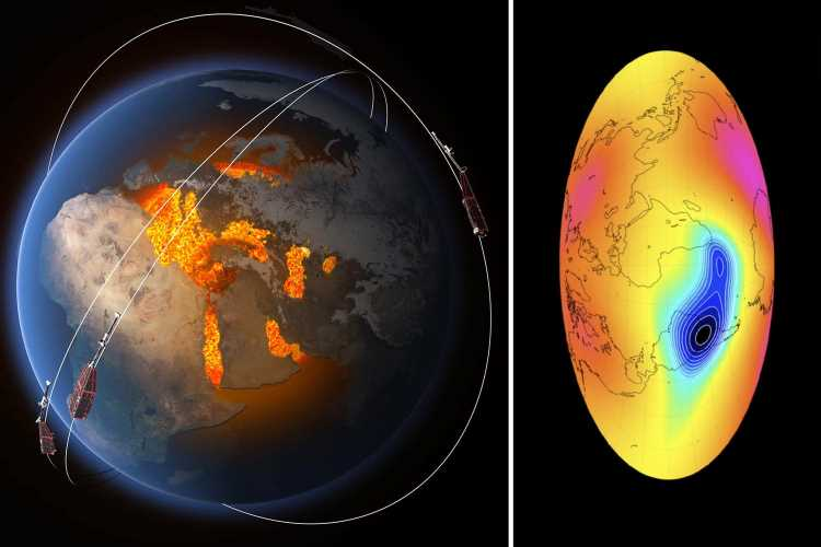 Earth's magnetic field is WEAKENING between Africa and South America – and could soon flip