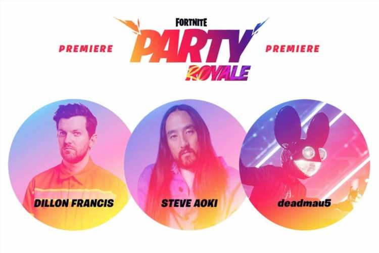 Fortnite launches weapons-free Party Royale mode with concerts from deadmau5 and Steve Aoki