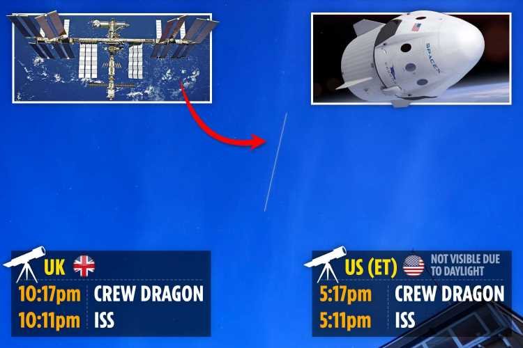 SpaceX tracker UK: How to spot the Crew Dragon and International Space Station from Earth