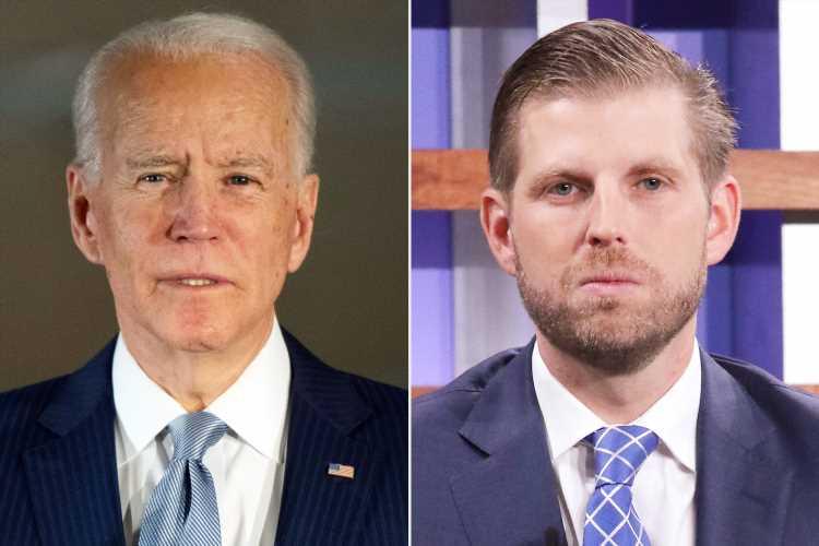 Biden Campaign Slams Eric Trump's 'Reckless' Hoax Claiming Coronavirus Will 'Magically Disappear'