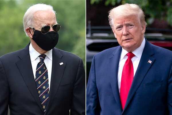How Joe Biden and Donald Trump Acknowledged 100,000 U.S. Coronavirus Deaths: A Eulogy and a Tweet