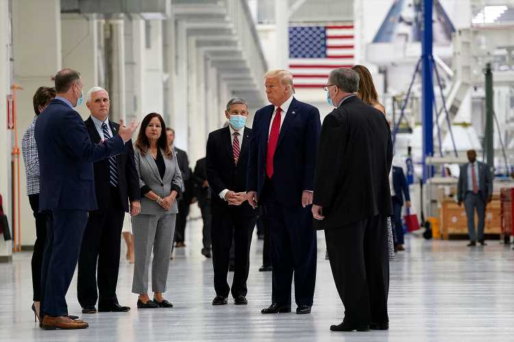Mostly Maskless Trump Family Heads to Florida for SpaceX Rocket Launch Scrubbed Due to Weather
