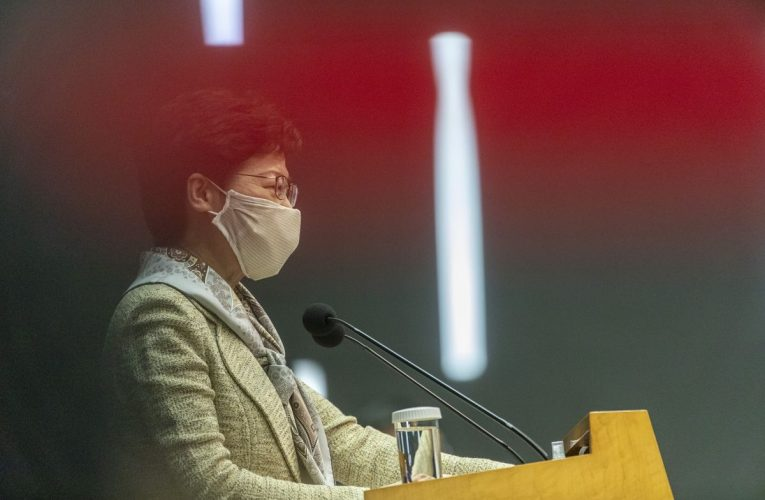 Hong Kong's LeaderAsks Residents to Support National Security Law