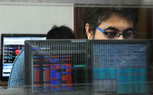 Sensex drops over 200 pts in early trade; Nifty tests 9,100 level