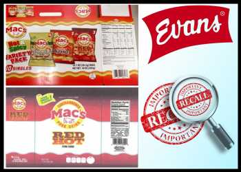 Evans Food Recalls Ready-to-eat Pork Skin Products For Undeclared Soy
