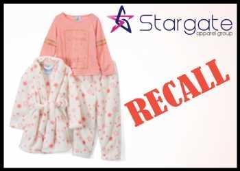 Stargate Apparel Recalls Bunz Kidz Children's Sleepwear Sets