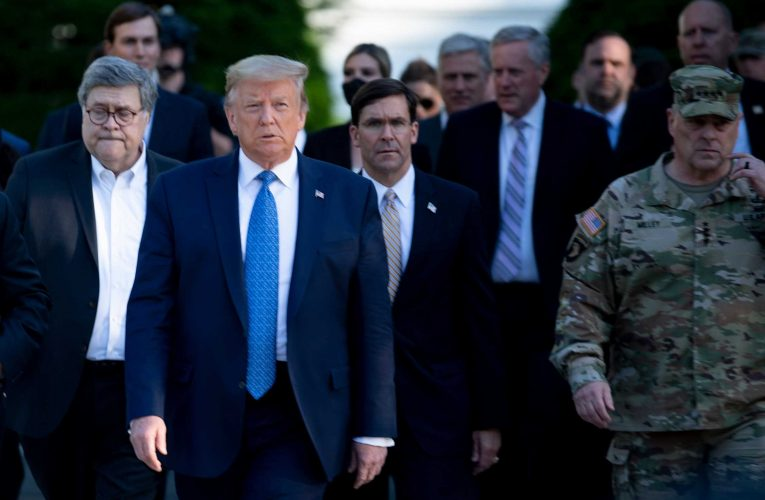Defense Secretary Says He 'Didn't Know' He Was Going With Trump To Photo-Op