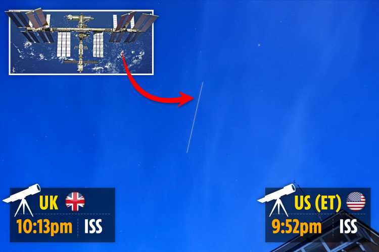 How to spot ISS from your garden TONIGHT as space station soars over UK