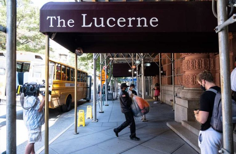 Hotel Lucerne on Upper West Side converts to 'temporary' homeless shelter