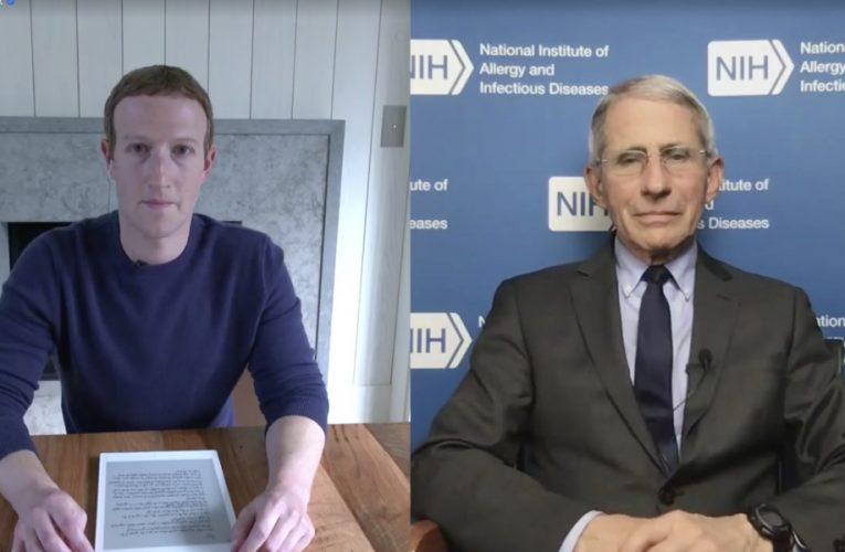 Mark Zuckerberg, In Interview With Anthony Fauci, Criticizes Trump Administration's Coronavirus Response