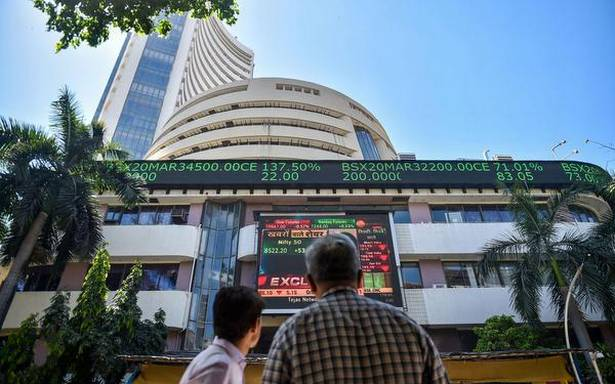 Sensex drops 129 points