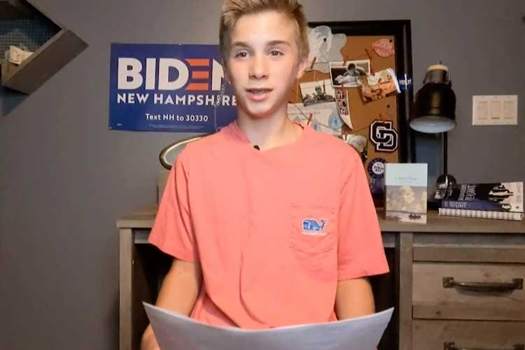 13-Year-Old Boy Who Stutters Makes Touching Speech About How Joe Biden Made Him Feel Confident