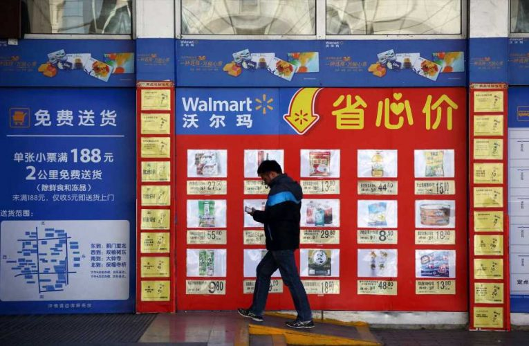 Walmart says its second-quarter e-commerce sales surged 104% in China