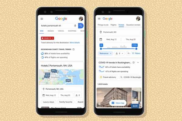 Google's New Travel Booking Tools Take a Pandemic Into Account