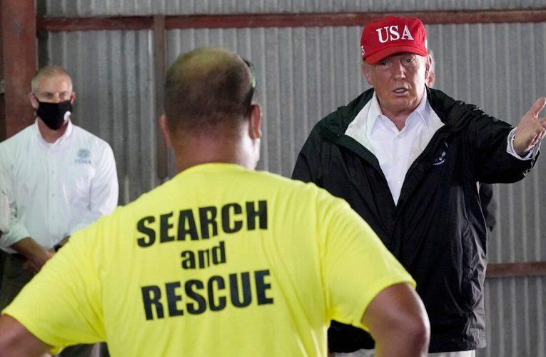 Trump tours Hurricane Laura storm damage, pledges support