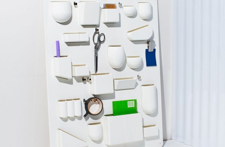 A Midcentury Wall Organizer Puts Clutter on Creative Display