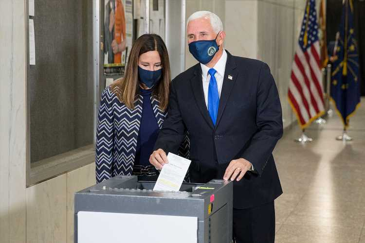 Vice President Mike Pence and Second Lady Karen Pence Cast Their Early Votes