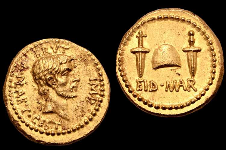 Ultra-rare Julius Caesar 'assassination coin' made from gold 2,000 years ago may be worth MILLIONS