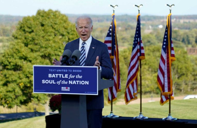 Biden vows not to allow 'White supremacists to overturn the America of Lincoln'