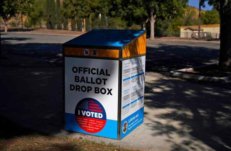 Ballot drop box in LA County set on fire, prompting arson investigation