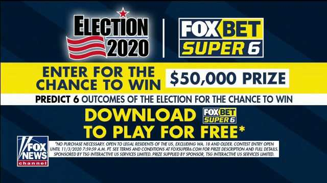 Fox News viewers can win $50G with FOX Bet Super 6 Election 2020 game