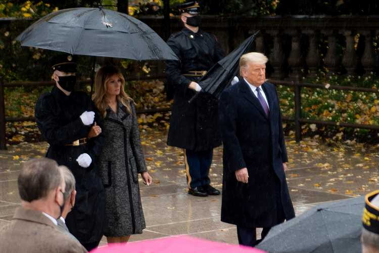 Donald and Melania Trump Make Rare Post-Election Appearance for Veterans Day amid Ongoing Refusal to Concede