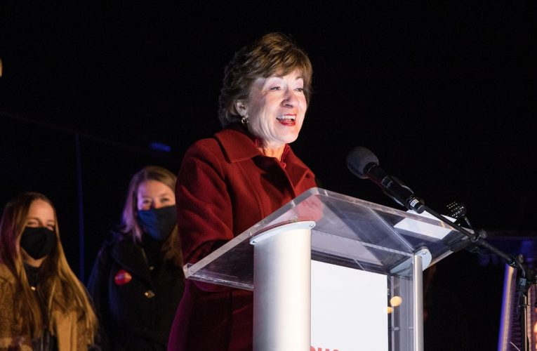 GOP's Collins Wins Maine Senate Contest as Democrat Concedes