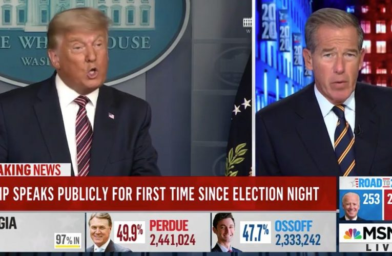 MSNBC stopped airing Trump false victory speech after 35 seconds — calling it 'dangerous' — while other networks aired all 15 minutes of it