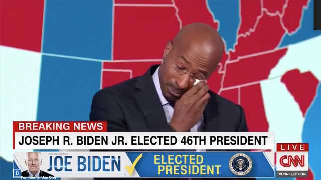 CNN's Van Jones cries on-air amid emotional response to Biden victory: 'Being a good person matters!'