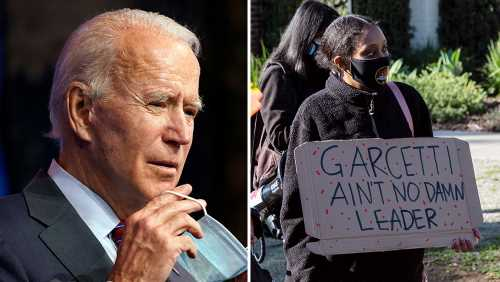 Joe Biden's Pick Of Eric Garcetti For Inaugural Job Slammed By BLM LA; Protests Continue Outside Mayor's Mansion