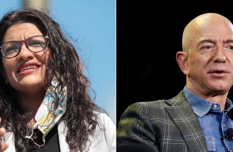 Rashida Tlaib accuses Amazon of profiting during the pandemic while neglecting workers. Staff are 'afraid to go to work' because Amazon's facilities aren't clean, she said.