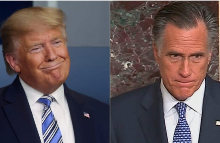 Trump has a 'blind spot' for Russia, Mitt Romney said, after the President shifted the focus for the SolarWinds hack from Russia to China