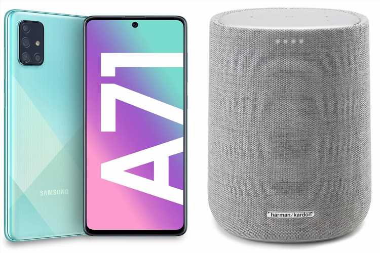 Get a FREE Kardon Harman speaker worth £180 with selected Samsung Galaxy hansdsets