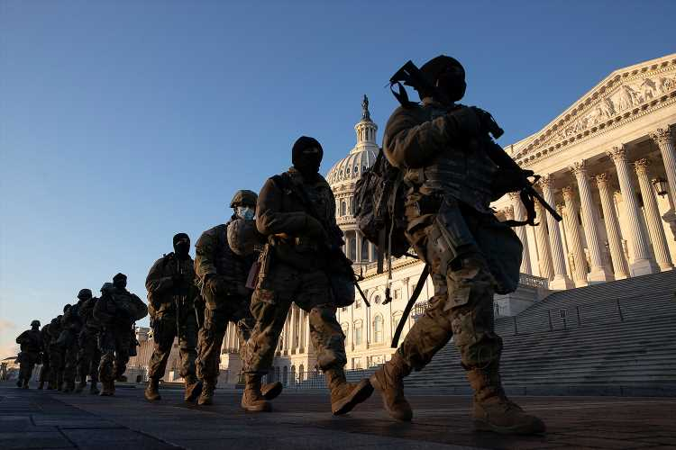 Extraordinary Photos of the National Guard at the U.S. Capitol