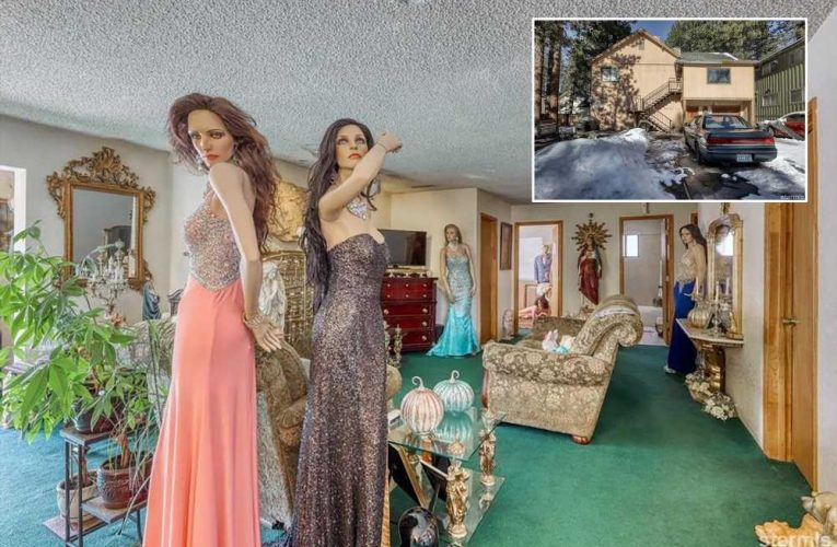 Why is this normal-looking house for sale filled with creepy mannequins?