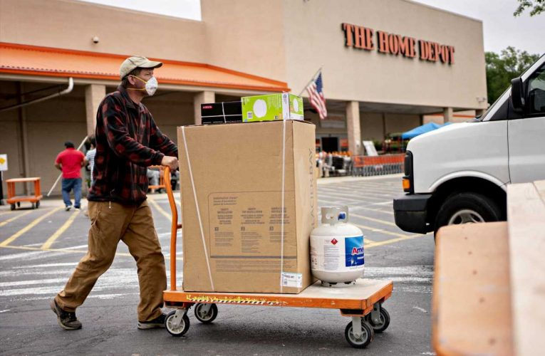 Stocks making the biggest moves premarket: Home Depot, Palo Alto Networks, Shopify, AMC & more