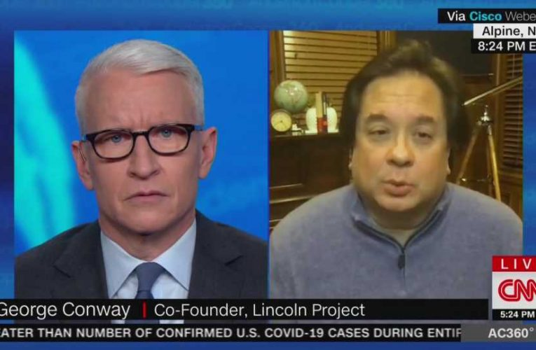 CNN's Anderson Cooper avoids John Weaver during interview with Lincoln Project co-founder George Conway