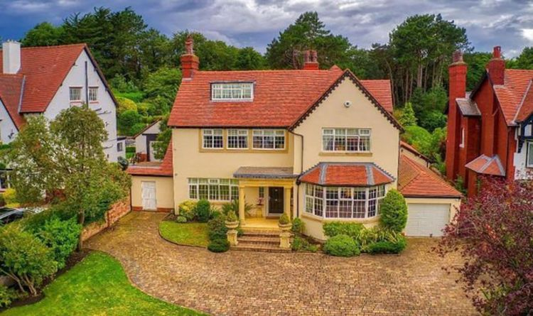 Million-pound dream home goes on the market with its own private woodland