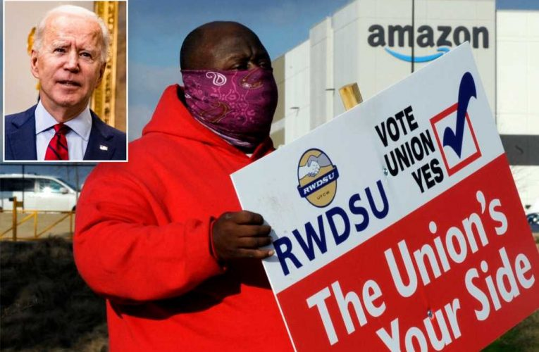 Biden offers support to Amazon workers attempting to unionize in Alabama