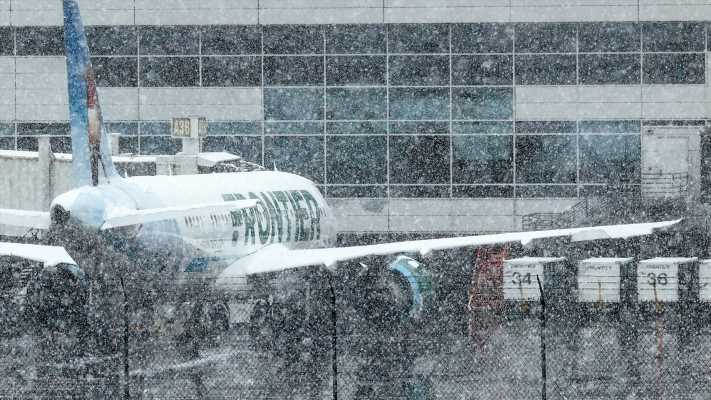 Winter storm pounds Denver, Colorado could get 4 feet of snow; thousands of flights canceled