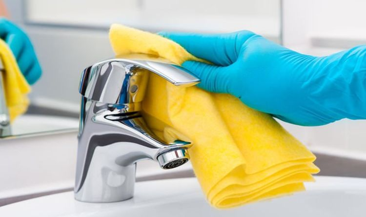 How to clean limescale from taps