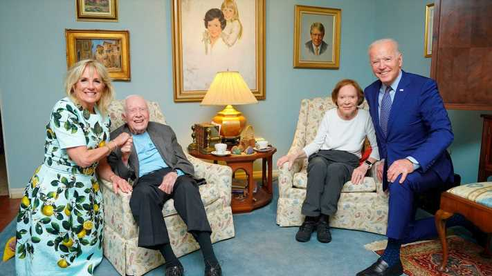 Fact check: The image of the Bidens and Carters together is distorted, but very real
