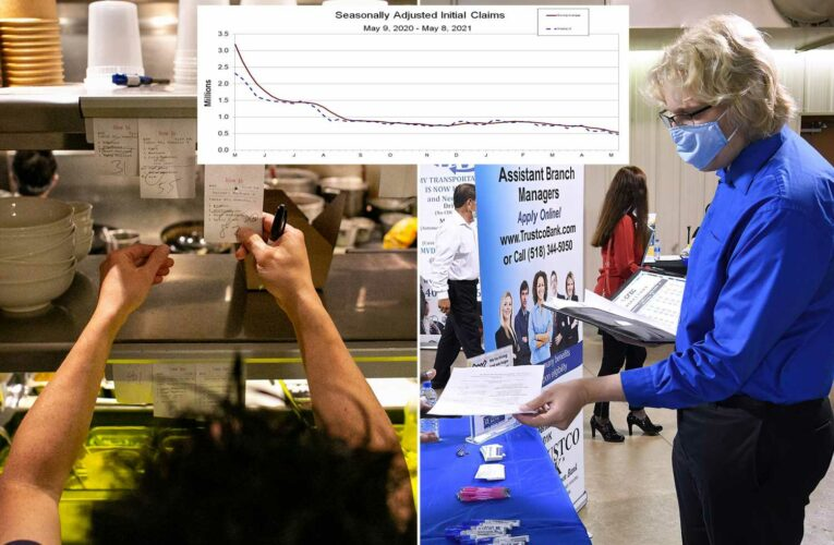 Workers file 473,000 new jobless claims, hitting another pandemic low