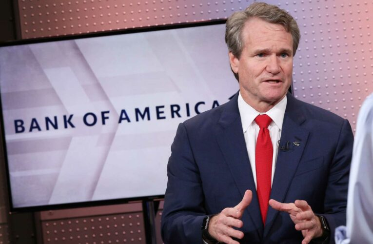 Bank of America CEO Brian Moynihan says consumer spending is 20% higher this year than 2019