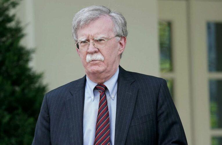 DOJ drops civil lawsuit against former Trump national security adviser John Bolton