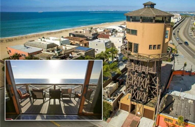 Live in this iconic, revamped Sunset Beach water tower for $5M