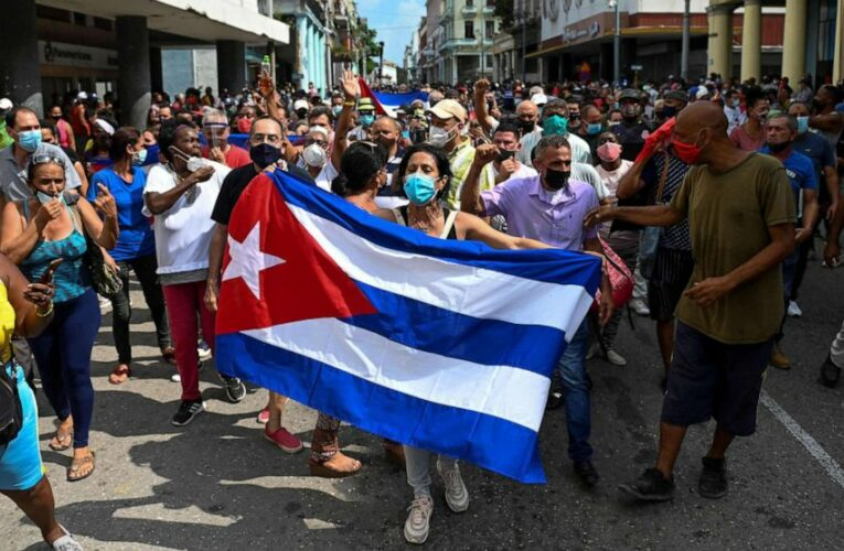 Biden backs Cuban protests as island's president blames 'imperialist' provocations