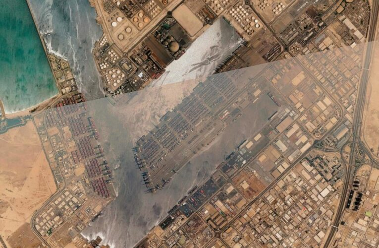 Firefighters douse ship that exploded at major port in Dubai