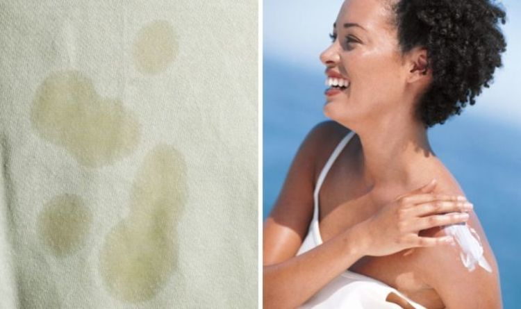 How to get yellow suncream stains out of white clothes – the easy hack