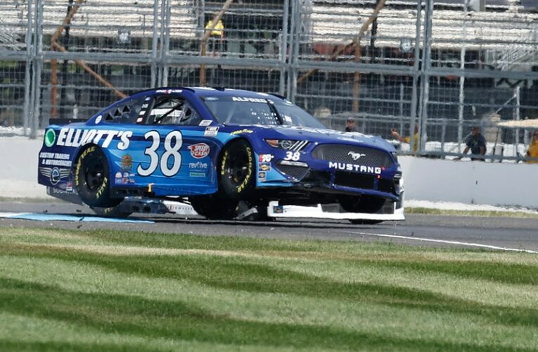 See it: Cars jump and wreck during NASCAR and Indycar Indianapolis races